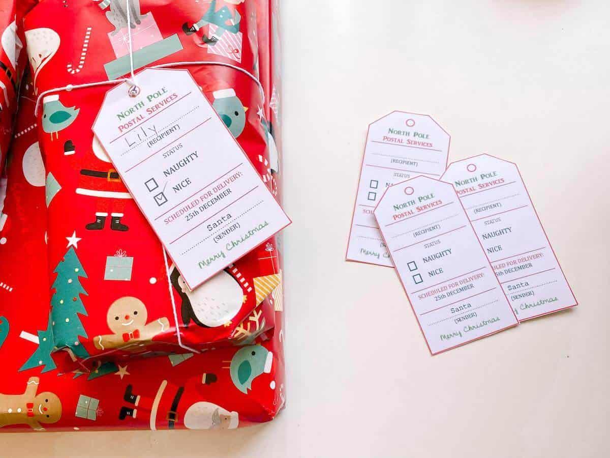 Printable santa tag