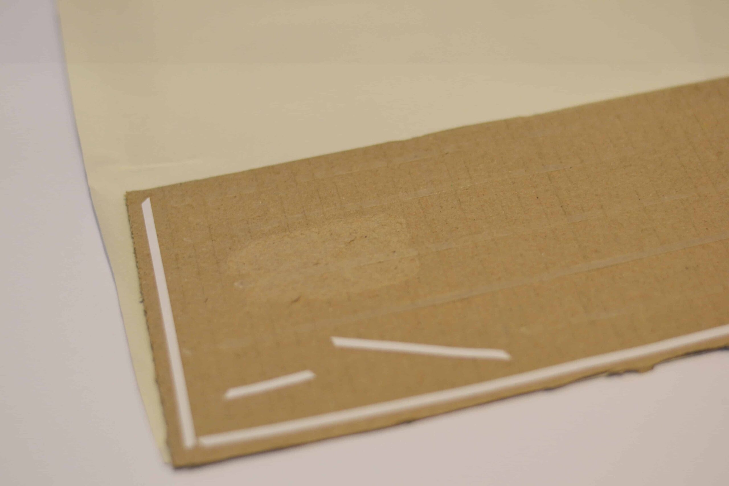 Cover cardboard with paper