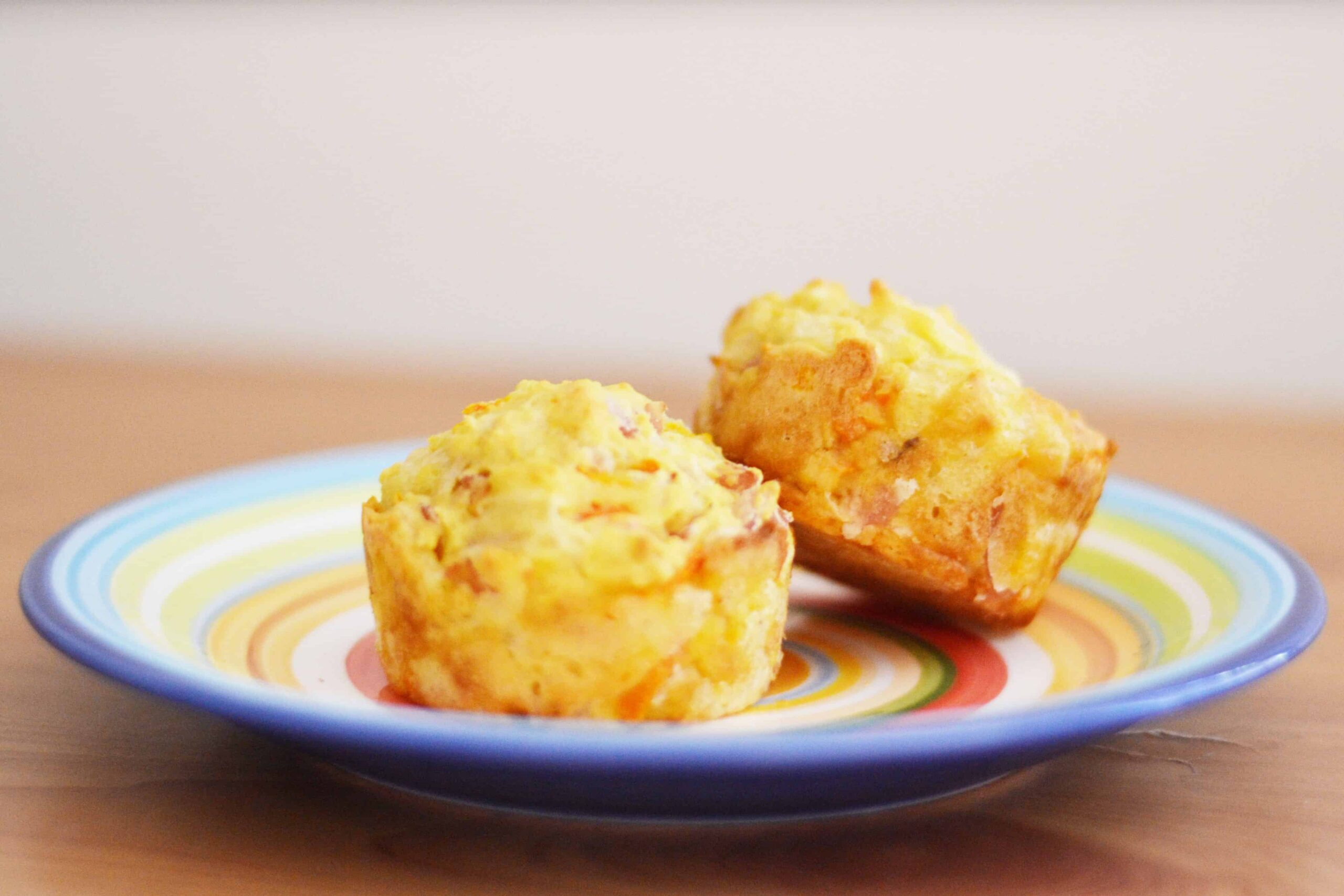 Savoury Ham Carrot & Cheese Muffins Recipe