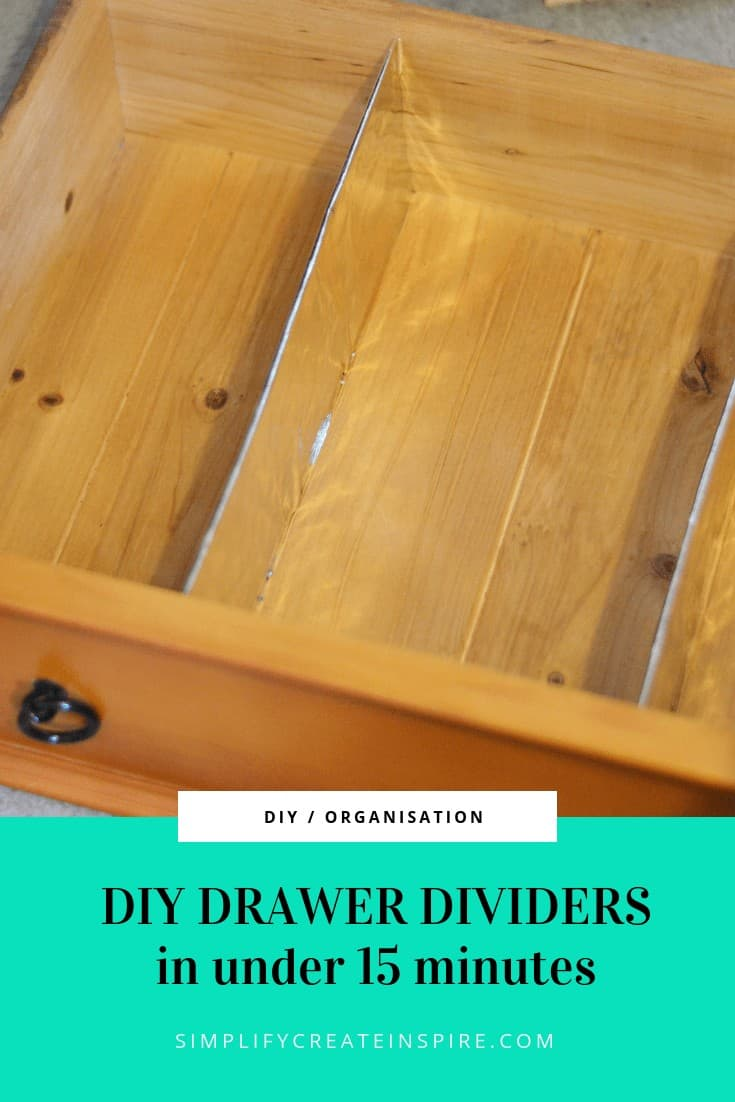 Custom Drawer Dividers made from cardboard