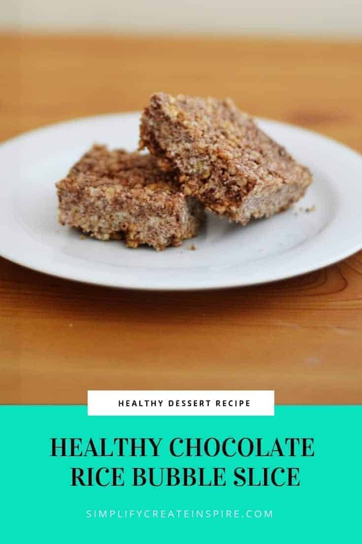 Healthy Chocolate Rice Bubble Slice