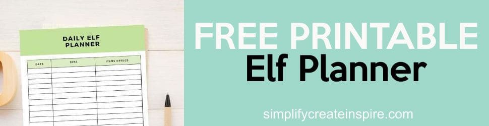 Freee printable elf planner