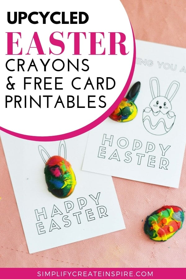 DIY Easter Crayon Shapes & Printable Cards