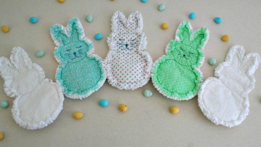 Rag quilt bunnies