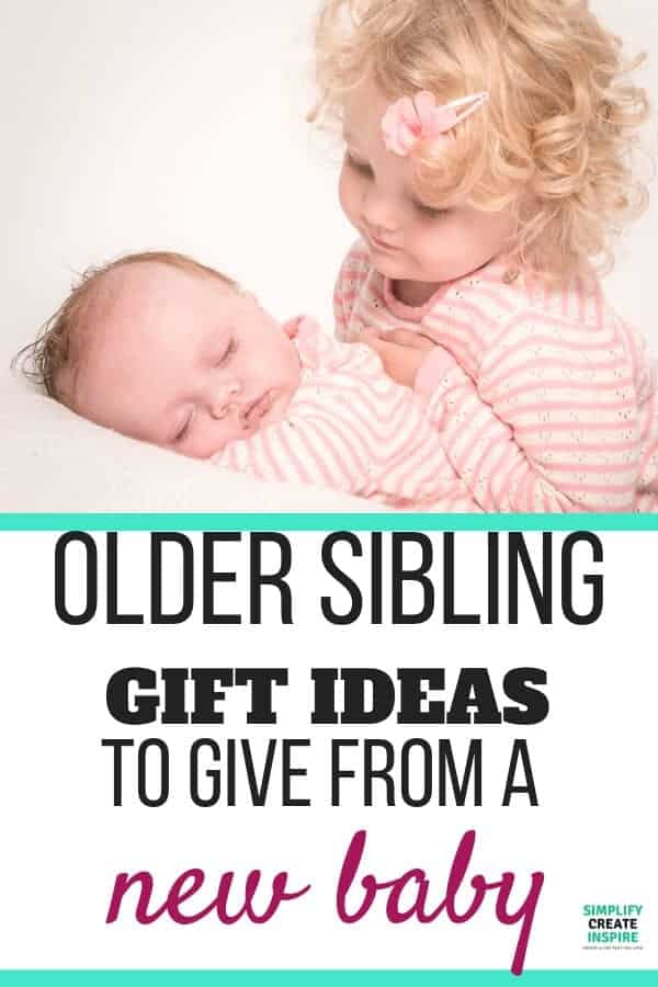 Big brother and sister gift ideas to avoid new sibling jealousy - big sister and baby