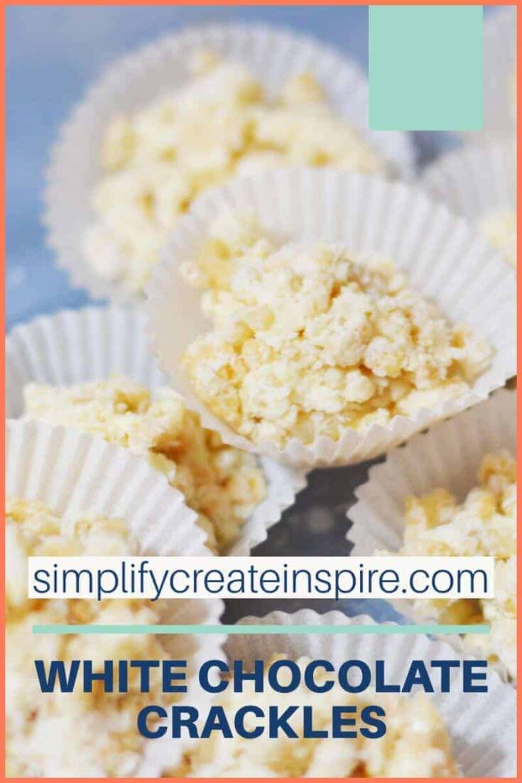 The best white chocolate crackles recipe with real chocolate! This no copha crackles recipe is so much better than traditional crackles, with creamy white chocolate and coconut flavours making it an irresistible and easy to make treat! #chocolatecrackles #crackles #whitechocolate