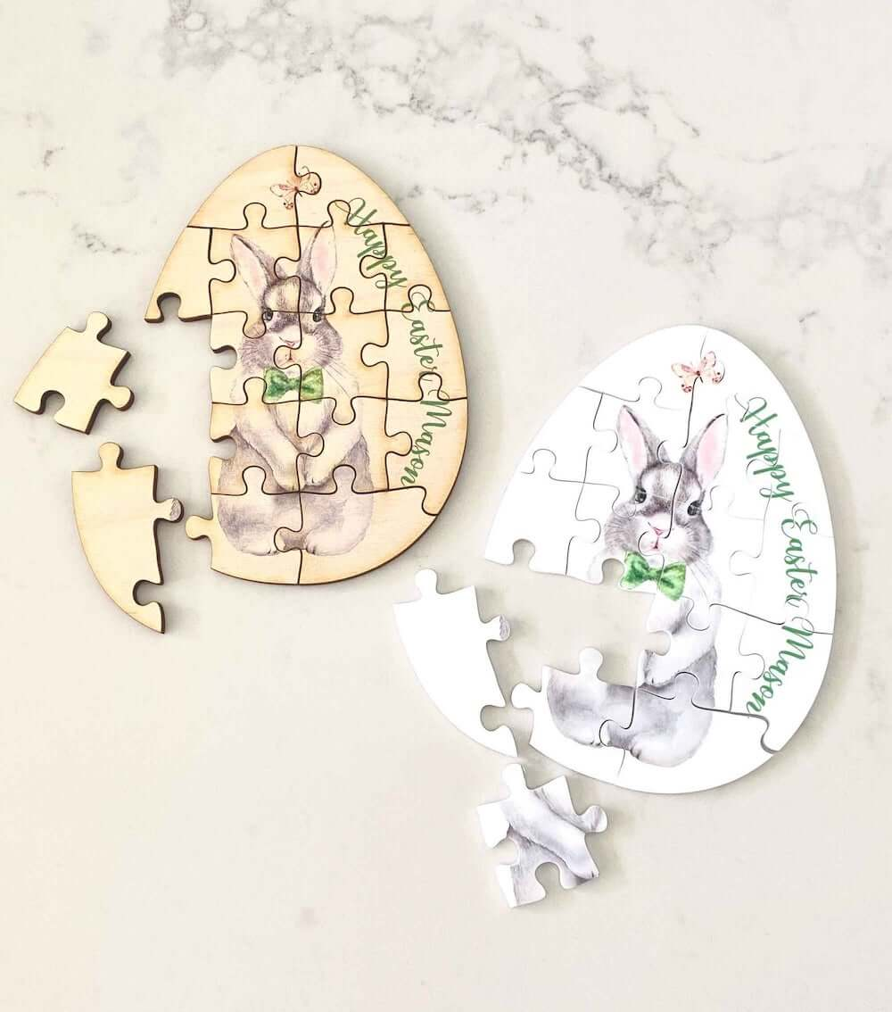 Wooden easter puzzles