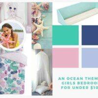 Ocean themed bedroom makeover for under $100