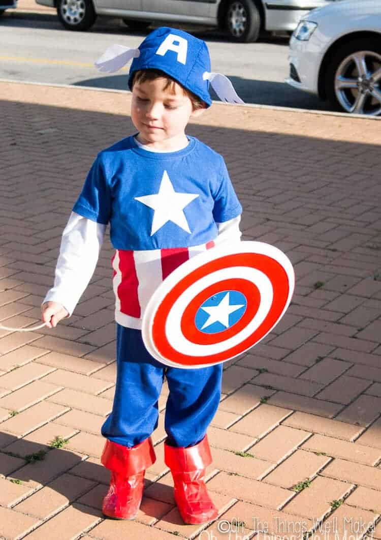 Captain america costume DIY
