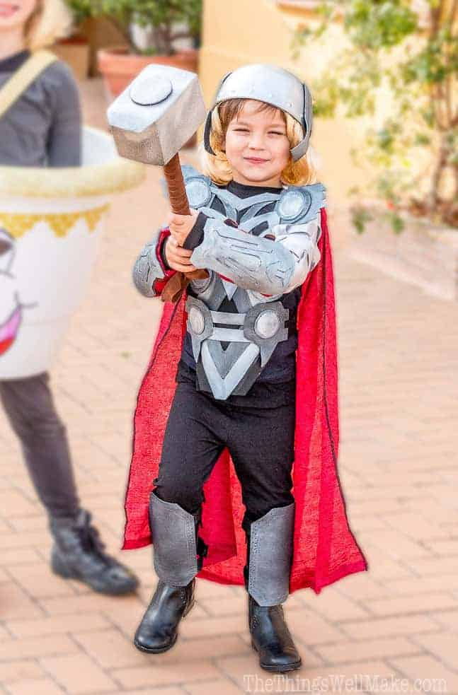 Diy thor costume - reading is my super power