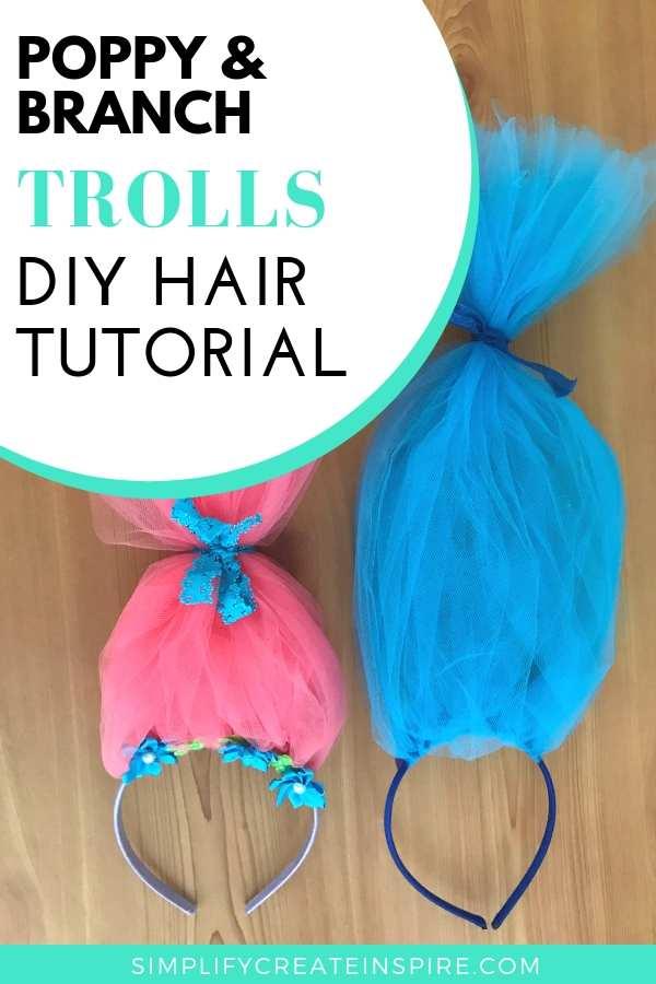 Poppy Troll headband tutorial - Troll hair