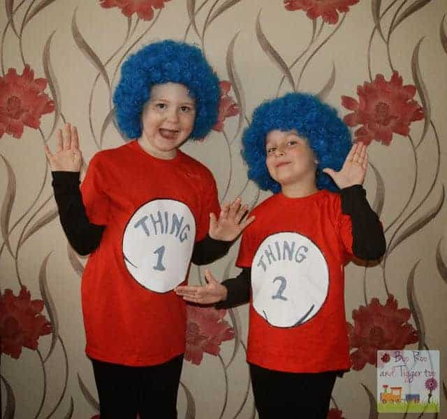 Thing 1 and thing 2 dr seuss costumes