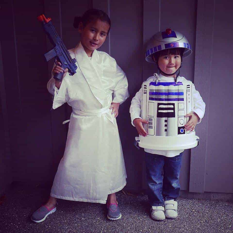 R2d2 star wars costume easy book week costume ideas