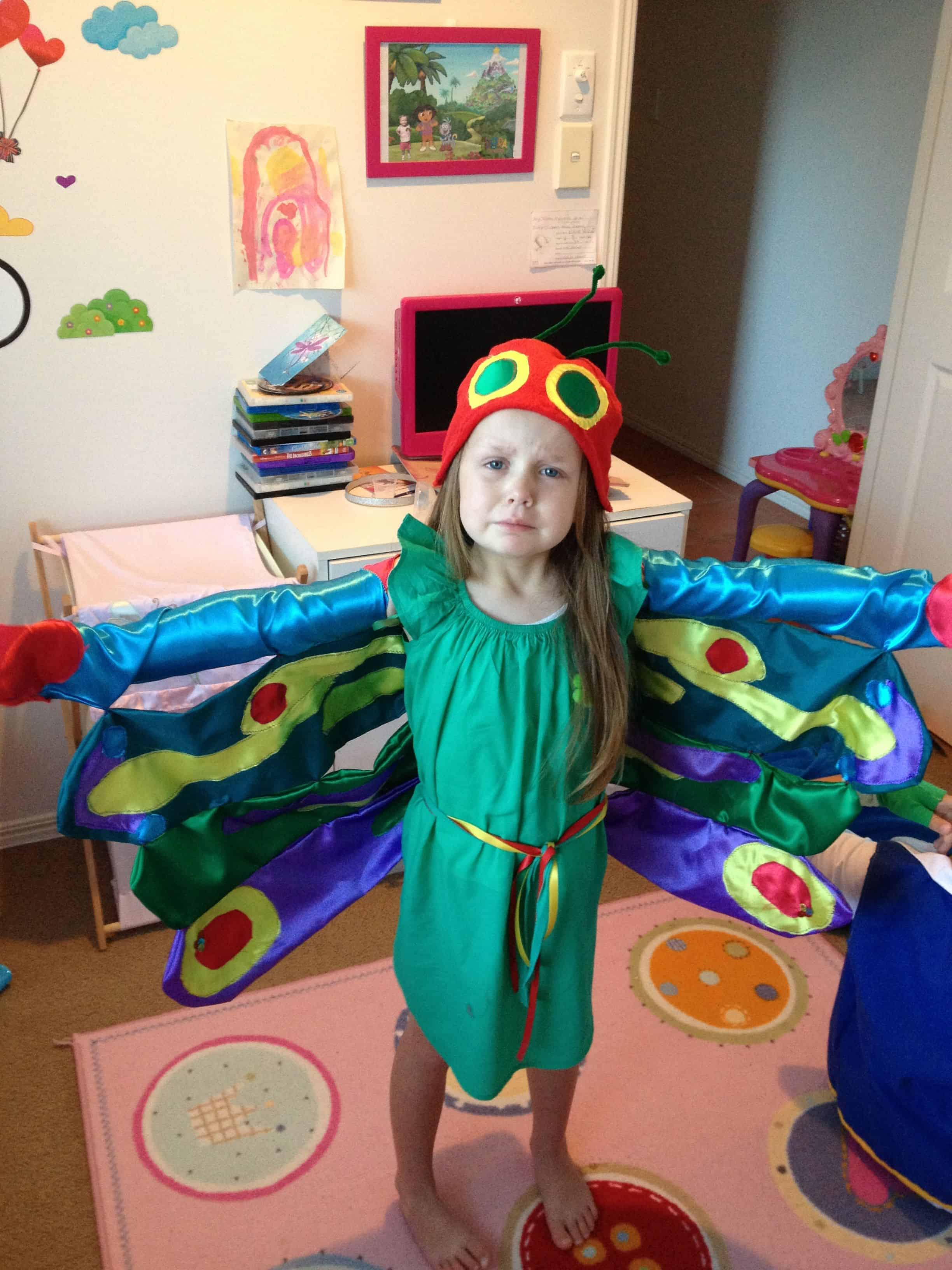 Very hungry caterpillar book week costume ideas