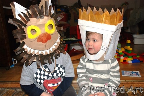 Where the wild things are costume from paper bag