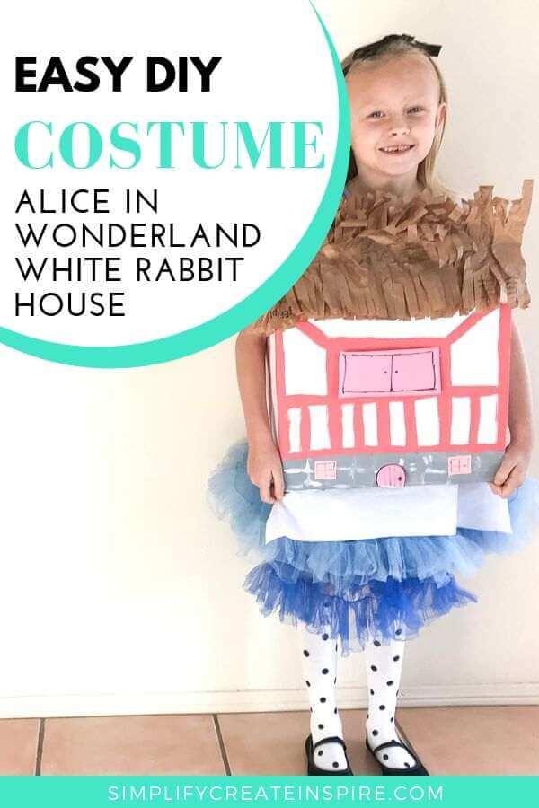 Alice In Wonderland House Costume - White rabbit house costume DIY
