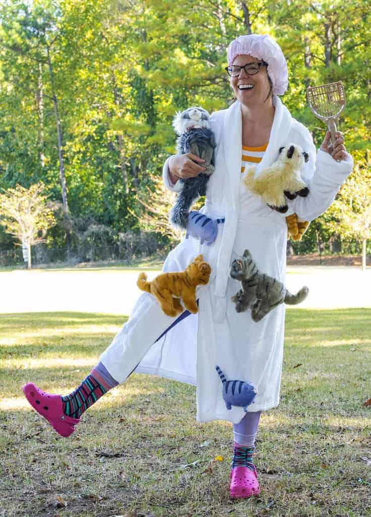 Crazy cat lady costume for halloween