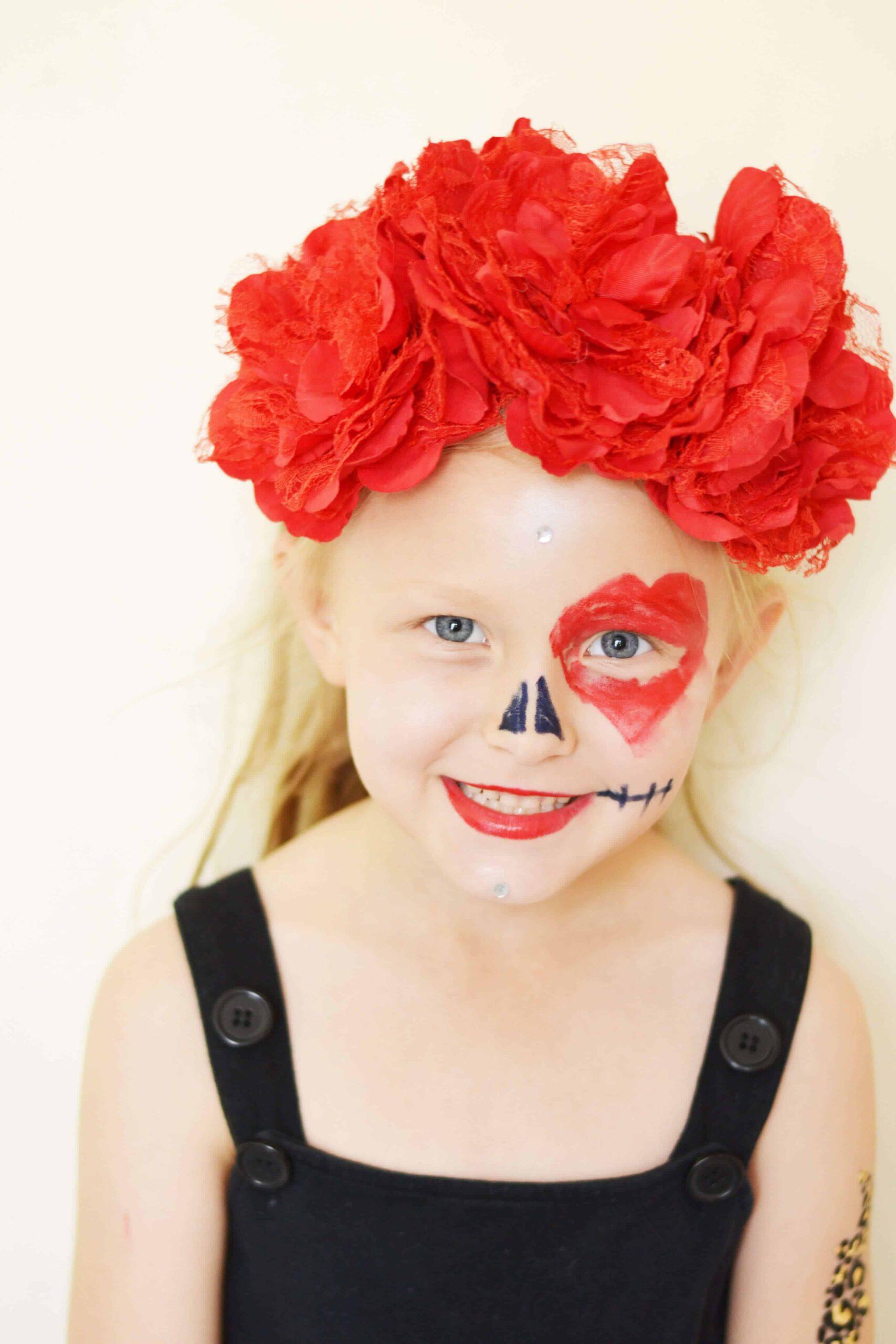 Girls sugar skull make up diy
