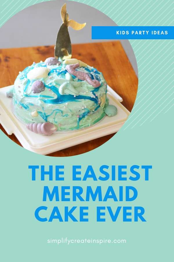 DIY Mermaid cake - ocean theme party for kids