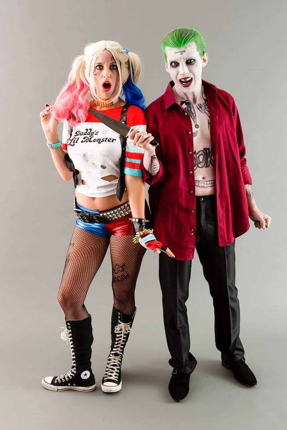Suicide squad joker and harley quinn couple costumes