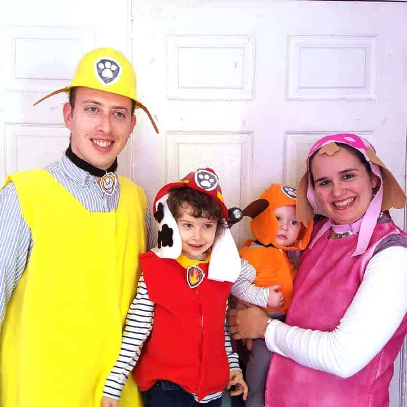 Diy paw patrol costumes for family