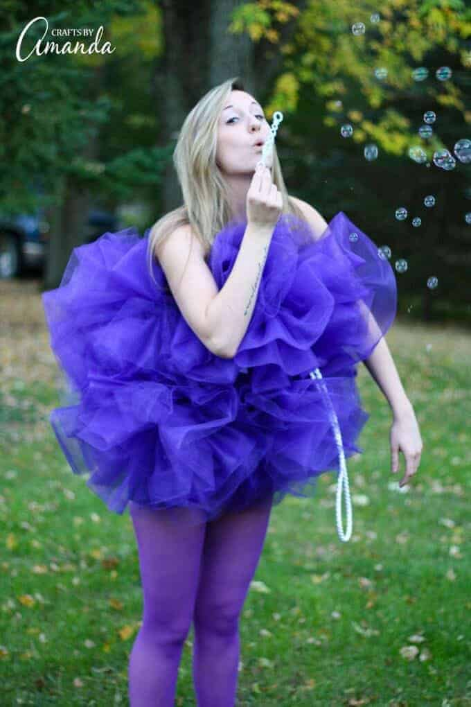 Diy shower pouf adults halloween costume