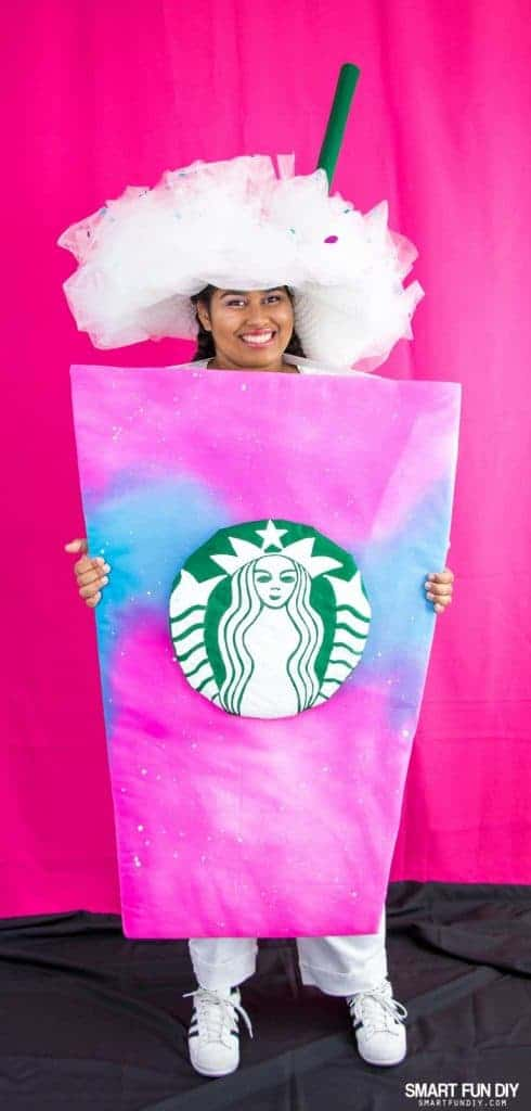 Diy unicorn frappuccino starbucks costume for halloween