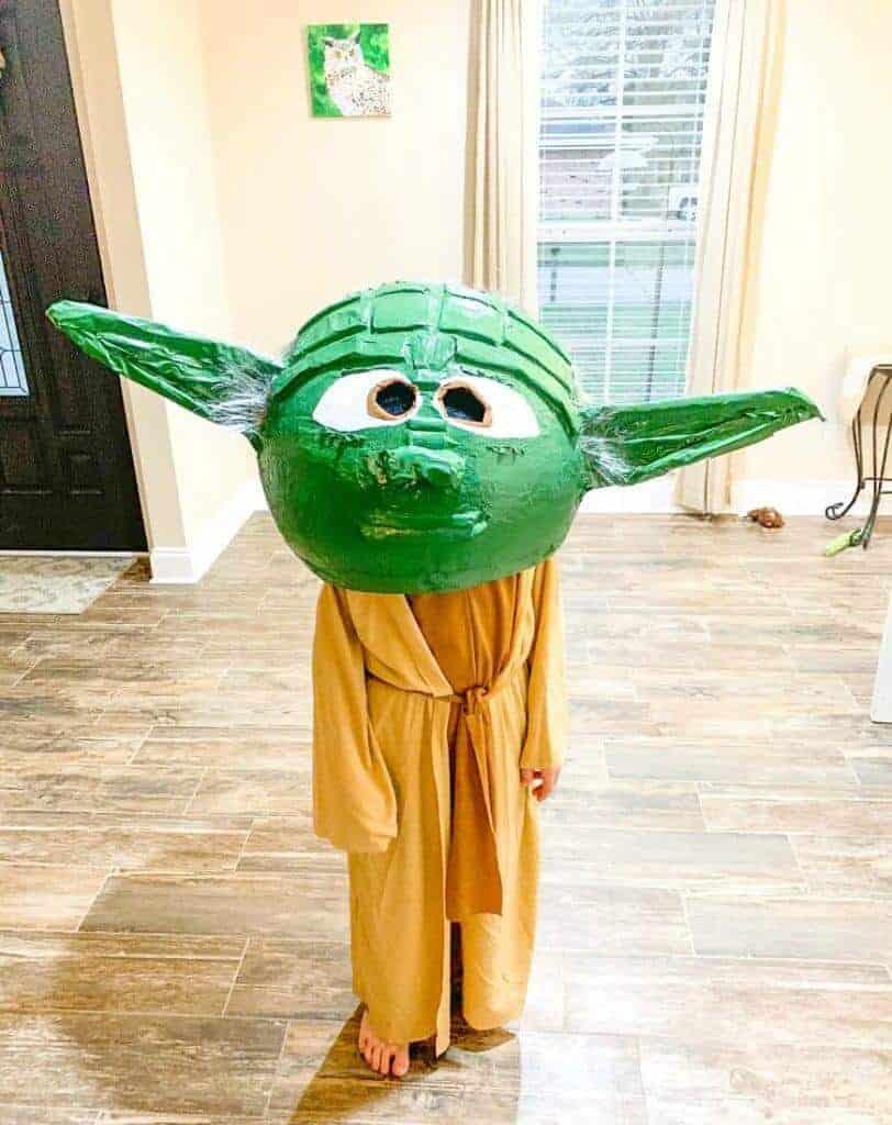 Yoda paper mache head 33 diy halloween costumes for kids & babies for 2021