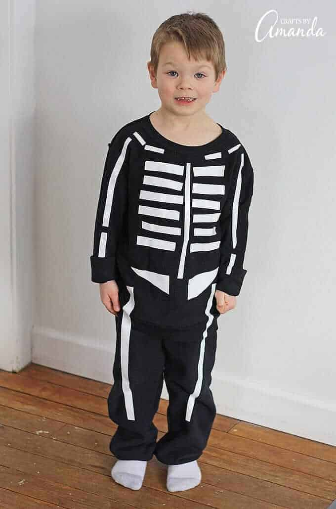 Duct tape skeleton costume 2