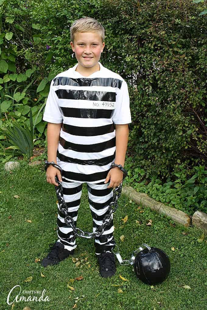 Diy prisoner costume for men