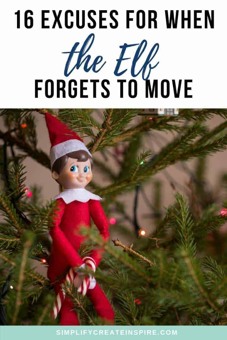 Elf on the shelf excuses - Reasons the elf did not move to save your butt in December
