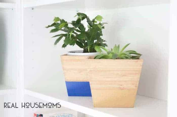 Diy color dipped bamboo planters ikea hack feat