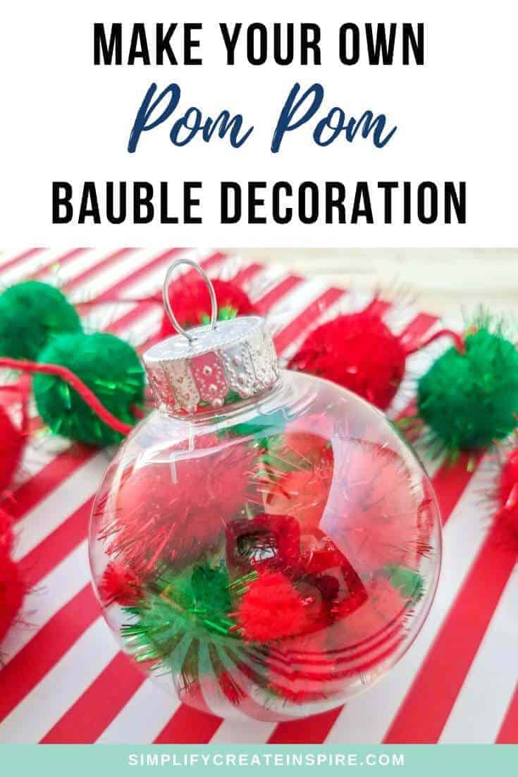 How to make pom pom christmas decorations