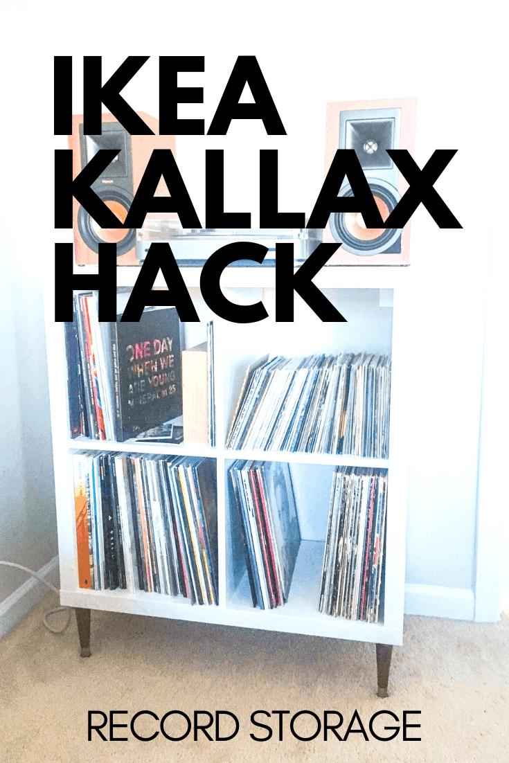 IKEA KALLAX Record Player Storage Hack