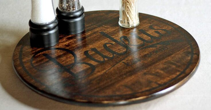 Personalized lazy susan ikea hack fb