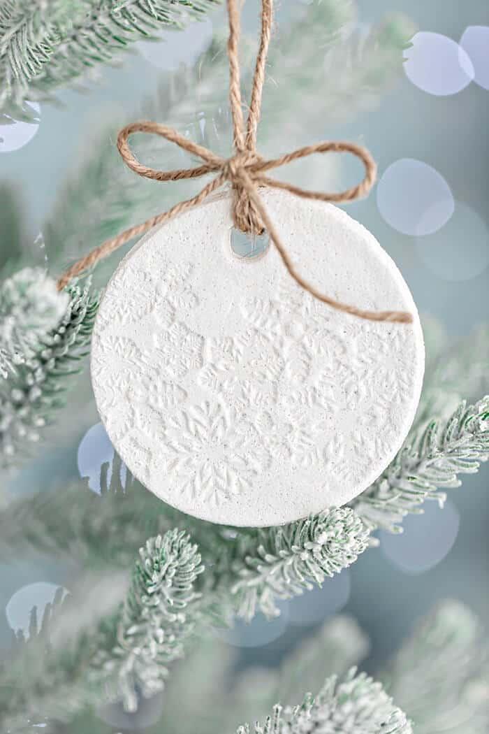 Snowflake salt dough ornament