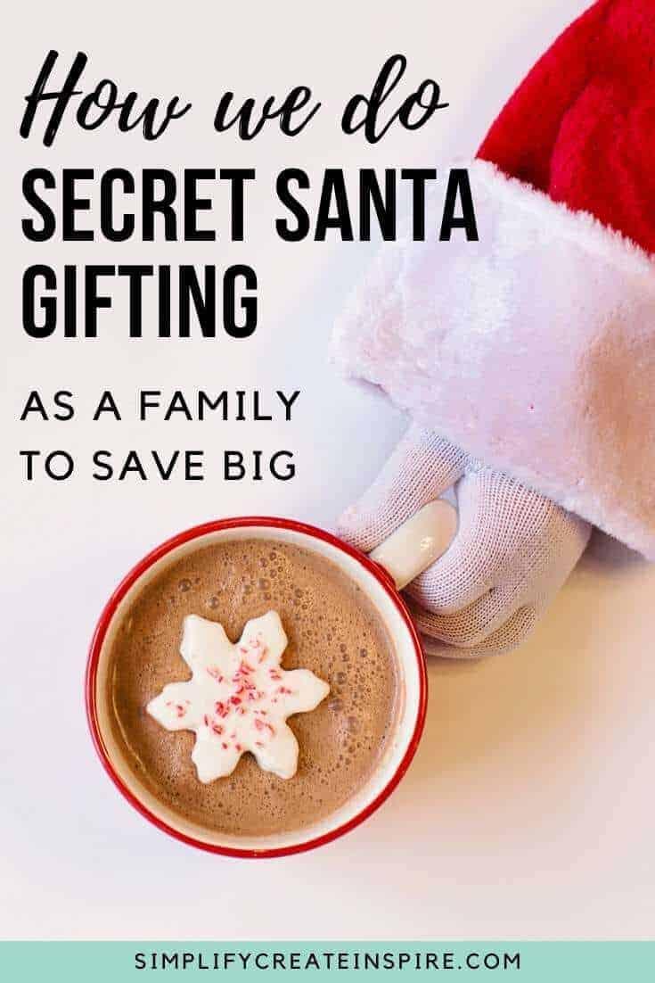 Secret santa with family