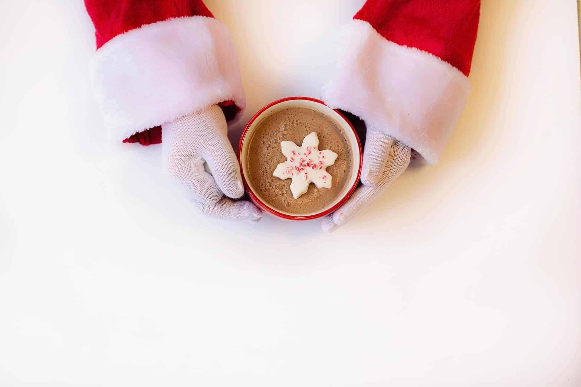 Santa with hot chocolate