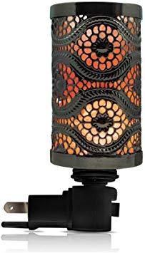 Black Metal Basket Salt Lamp Nightlight