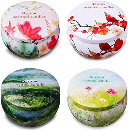 Scented Soy Wax Tin Candles Gift Set