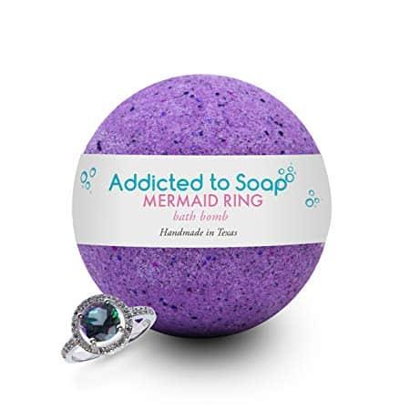 Mermaid Bath Bomb With Surprise Ring