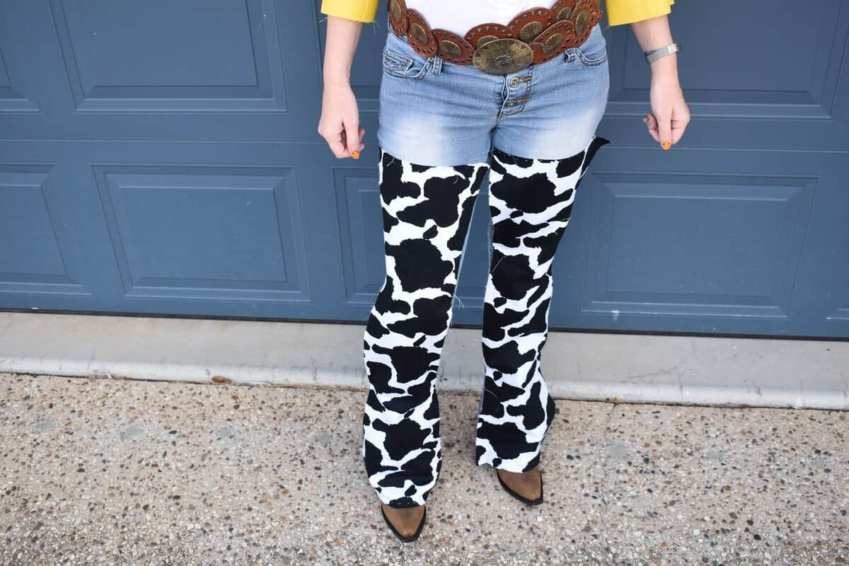 How to make Jessie's chaps from Toy Story