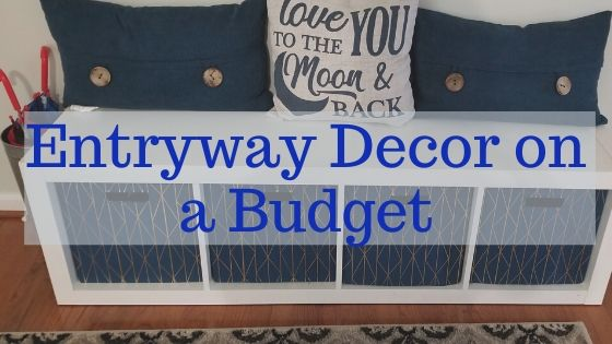 Entryway decor on a budget