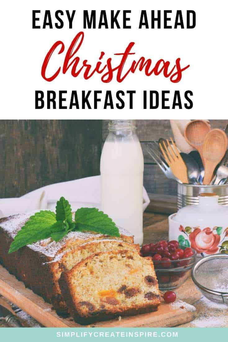 Easy make ahead christmas breakfast recipes ideas