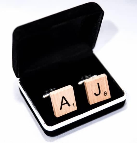 Handmade Scrabble Cufflinks