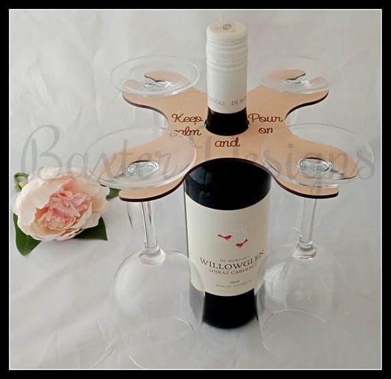 Over Bottle Wine Glass Holder