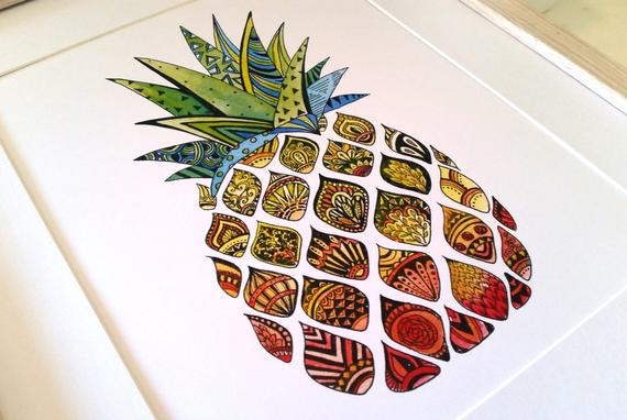 Pineapple Watercolour Print