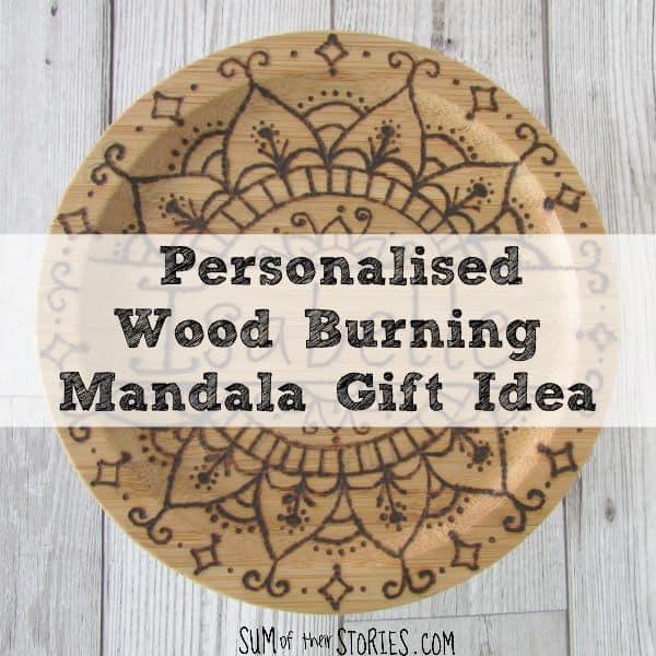 Personalised Wood Burning Mandala Gift Idea