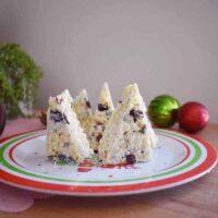 White chocolate christmas tree rice krispie treats