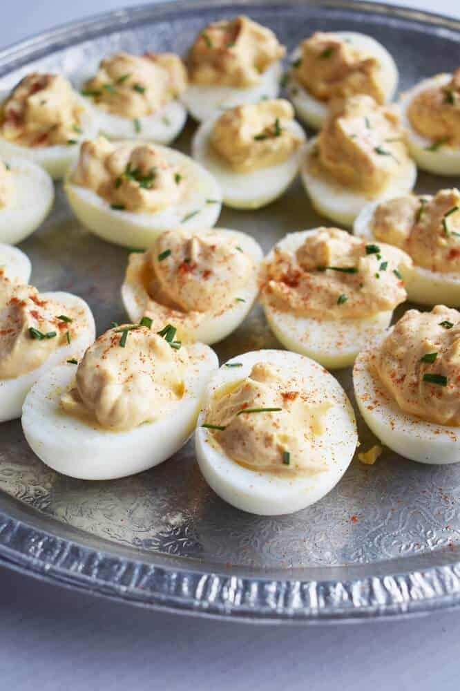 Dijon mustard deviled eggs